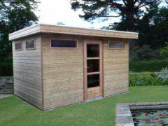 Tuinhuisje-met-plat-dak